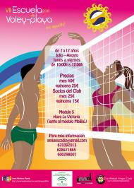 Escuela de Voley Playa del Club Voleibol Amigos Cádiz.