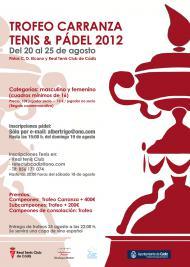 Trofeo Carranza de Tenis y Pádel 2012